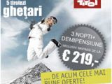 Cinci ghetari din Tirol: 1 abonament la schi pentru distractie la maxim pe ghetari