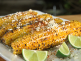 Grilled corn  , in the Cuban style