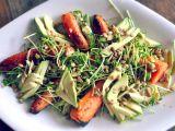 Salata de iarna, cu morcov copt si avocado