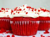 Briose Red Velvet, perfecte pentru a sarbatori Ziua Indragostitilor