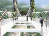 Cel mai mare pod de sticla din lume, aproape de finalizare! Unde se afla VIDEO
