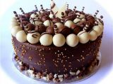 Cake chocolate with and nut for Holy M