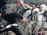 Focuri de arma la granita cu Romania! 28 de emigranti voiau sa treaca ilegal granita