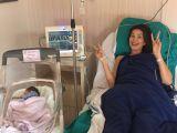 Primele imagini cu fetita Alinei Puscas, Melissa Antonia