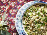Fregula cu ceapa fripta si marar, salata ideala la inceput de primavara