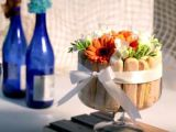 aranjament floral piscoturi