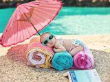 Prima iesire a bebelusului la plaja!
