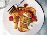 Cod cu cartofi, fenicul si rosii, la cuptor. O reteta rapida, perfecta pentru cina
