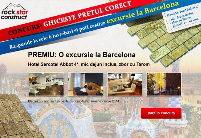 Ghiceste pretul corect si castigi o excursie in doi la Barcelona!