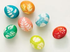 Cum sa faci oua de Paste decorate cu frunze