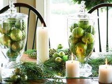 Ornamente elegante pentru masa de Craciun