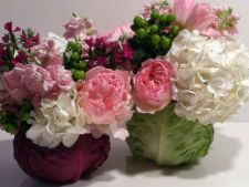 How to do the a   arrangement of flowers wonder and the cabbage scarf