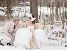 Magical: photos the most beautiful weddings of winter