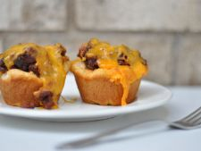 Muffins aperitif with the meat vita