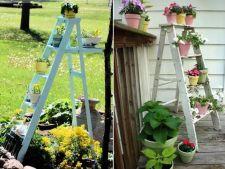 Cum sa creezi suporturi pentru flori din scari de lemn
