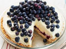 Cheesecake with ice cream and  , Cranberry dessert cool of summer