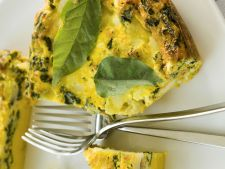 Omelet with mushrooms  , spinach and  , red cherry a little breakfast perfect for weekend