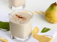 Bautura care previne racelile: smoothie cu pere si ghimbir