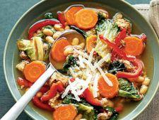 Supa de fasole si chorizo, pentru zilele racoroase de toamna
