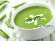 Supa crema de dovlecei si mazare, ideala in zilele racoroase de toamna