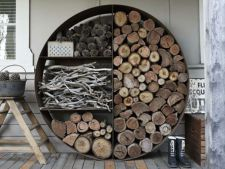 6 ingenious ways   for storage wood  , fire in the Court House
