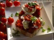 Bruschetta tomato with the dry and feta cheese  , for a small delicious