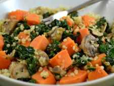 Recipes of  : post quinoa with sweet potato     cabbage and kale