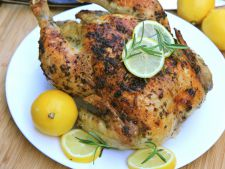Chicken whole at  , oven lemon Rosemary  , a   tasty recipe