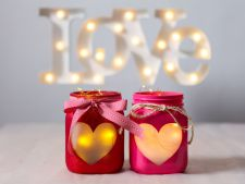 How to create the to romantic jars dinner of the  `s Valentine's Day
