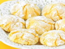 Cookies with  , lemon dessert easy and refined