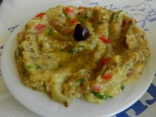 Eggplant salad of  , Greek ideal in the days post
