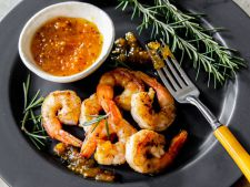 Shrimp with the sauce ginger  , in ready 10 minutes