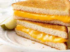 Sandwich grill with cheese  , butter perfect for a little breakfast fast