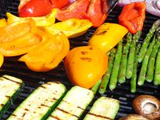 Gasket perfect of vegetables for the to barbecue preparations