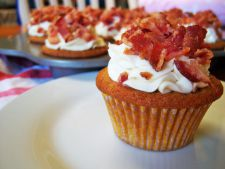 Muffins aperitif with bacon and  , mozzarella perfect for a break fast