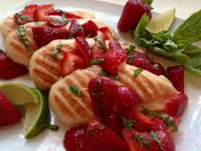 Chicken filled with Parmesan     icing Strawberry