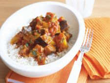 Curry of Eggplant with milk coconut  , a recipe Asian best on the time summer