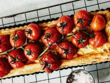 Ricotta tart with the and  , smoked tomato a   on which delight need it try