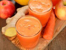 Smoothie de toamna cu mere, morcovi si portocale, pentru zile pline de energie