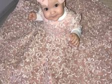 Fiica Biancai Dragusanu, rochie spectaculoasa la botez