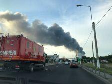 Incendiu la Balotesti: depozitul nu avea aviz ISU!