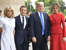Tinute de Prime Doamne. Melania Trump vs Brigitte Macron VIDEO