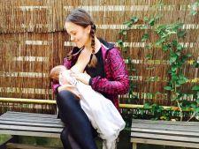 Sotia lui Madalin Ionescu, pusa la zid pentru ca alapteaza in public