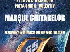 """Romania isi plange neputintele. """"Marsul Chitarelor"""" in memoria victimelor de la Colectiv"""