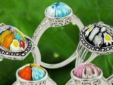 Idei de cadouri deosebite de Valentine's Day: bijuterii din argint BeSpecial.ro cu sticla de Murano Millefiori