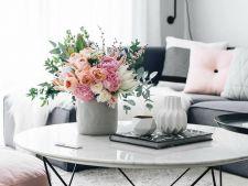 Adu primavara in casa ta! Doua aranjamente florale perfecte pentru decorarea livingului