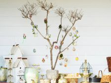 Decoratiuni pentru Paste: cum sa creezi un pom de Paste, fara a cheltui bani VIDEO