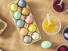 Vopsirea oualor de Paste da peste cap consumul energetic! Cate oua consuma romanii