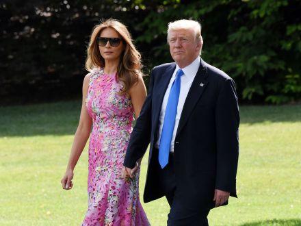 Rochia de mii de dolari cu care Melania Trump si-a impresionat sotul