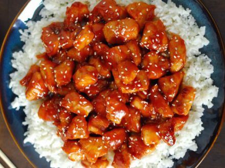 Pui cu sos de portocale - o reteta chinezeasca simpla si rapida